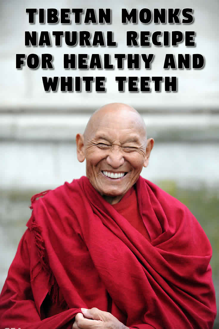 Tibetan monks Natural recipe for Healthy and White Teeth