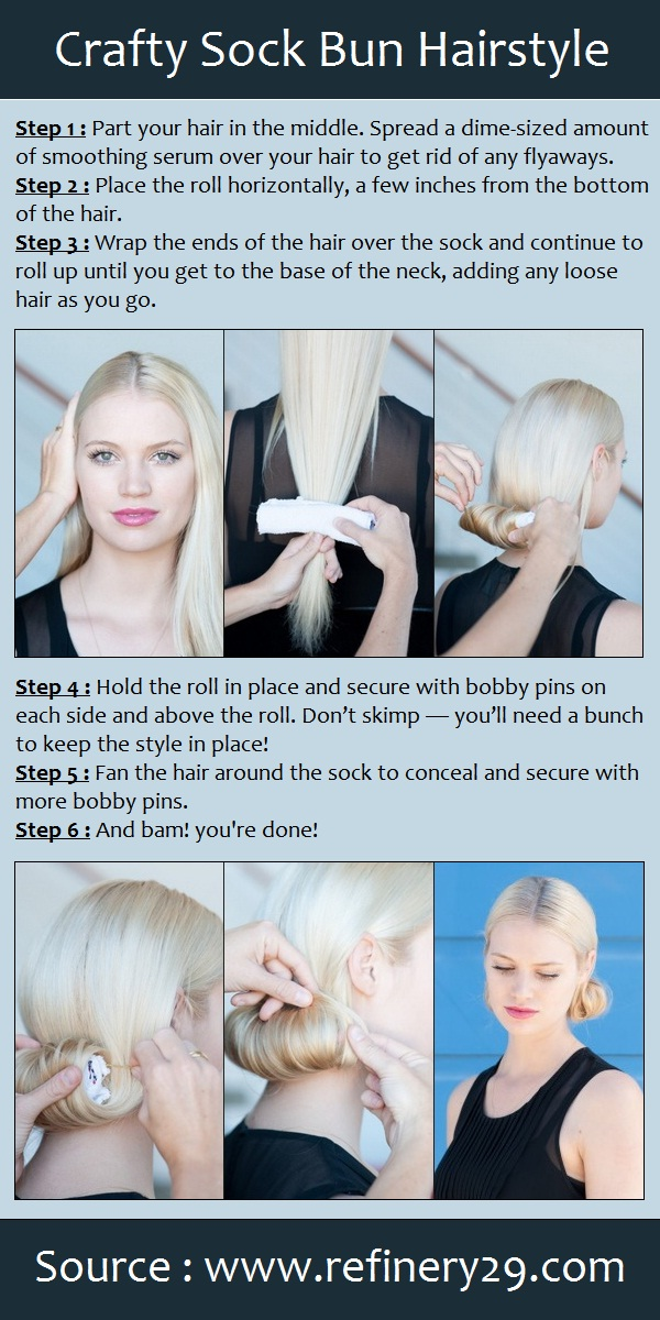 Crafty Sock Bun Hairstyle