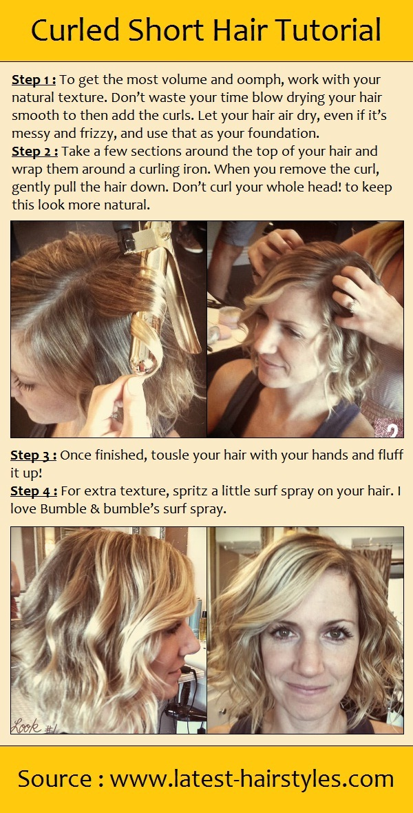 Curled Short Hair Tutorial