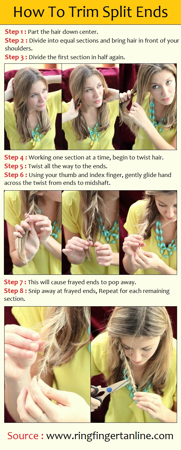 How To trim split ends at home