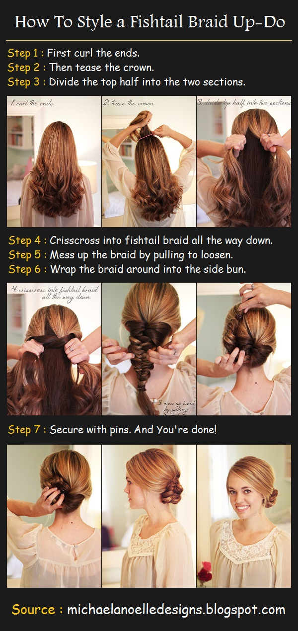 How to do a Fishtail Braided Up-Do