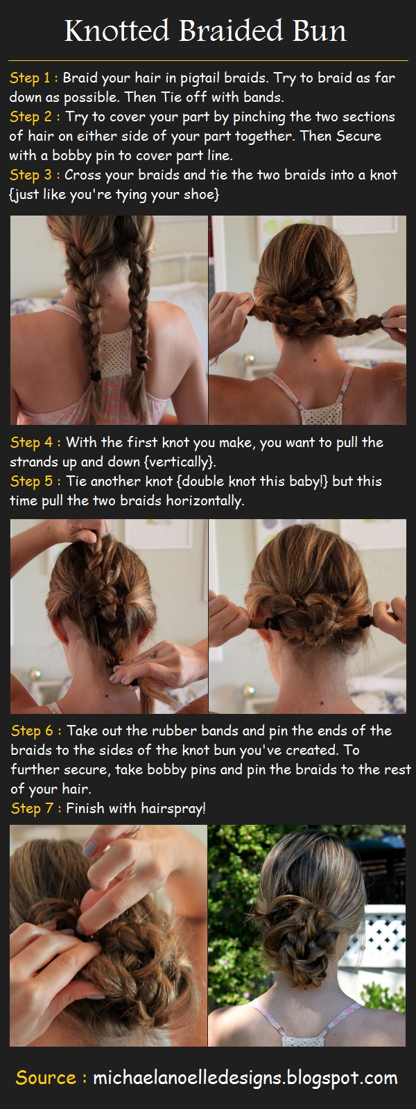How to do a Knotted Braided Bun