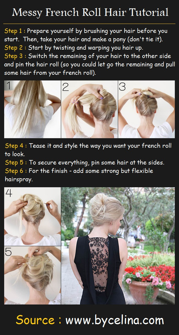 How to do a Messy French Roll