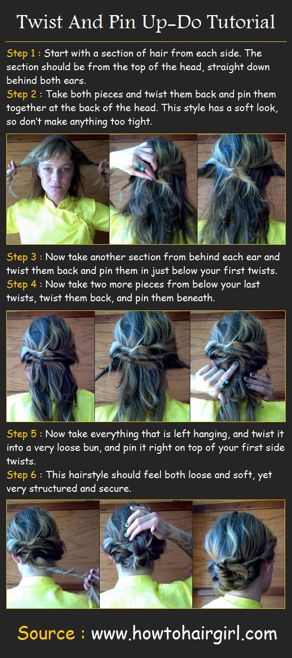 How to do a Twist And Pin Up-Do