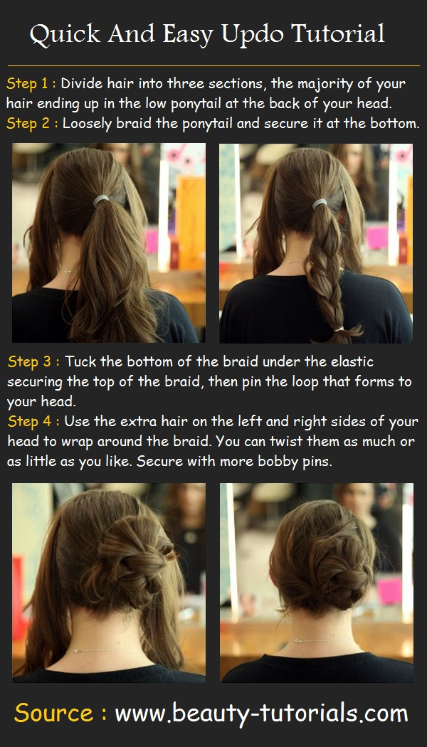 Quick And Easy Updo Tutorial