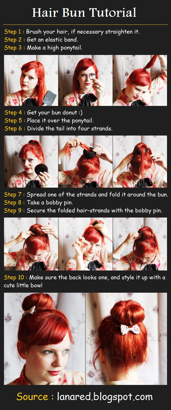 Summer Hair Bun Tutorial