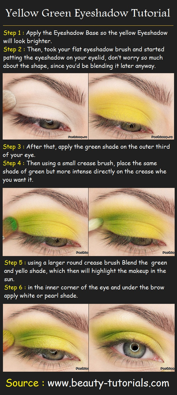 Yellow Green Eye-shadow Tutorial