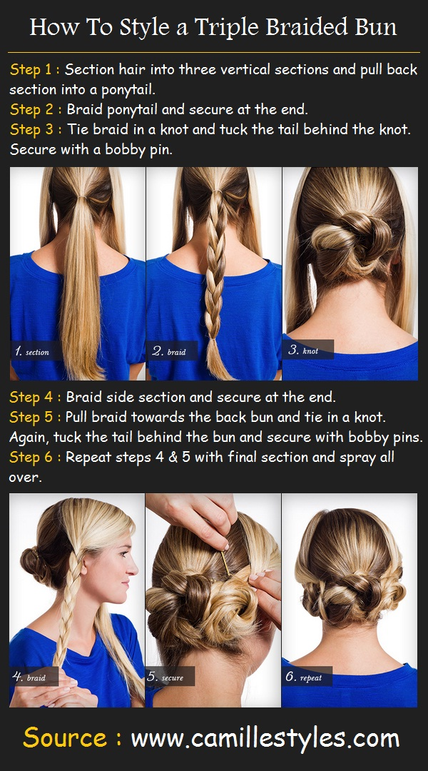 a Triple Braided Bun