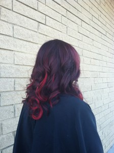 My red tape in hair extensions!