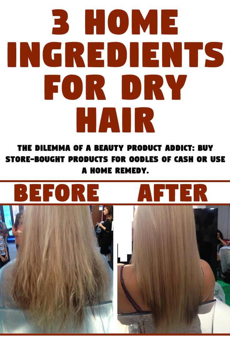 3 Home Ingredients For Dry Hair