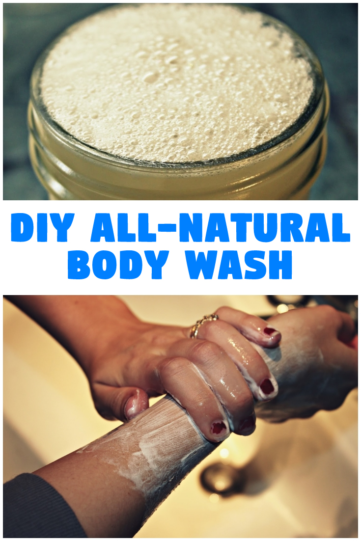 DIY all-natural body wash