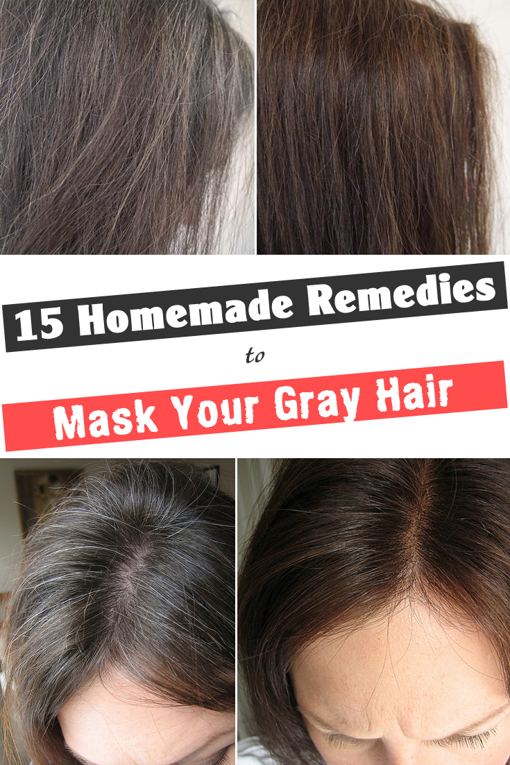 15 Homemade Remedies to Mask Your Gray Hair