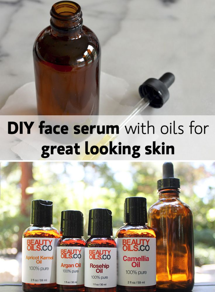 DIY oil serum for dry skin