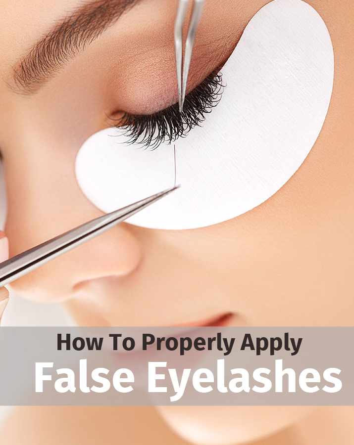 How To Properly Apply False Eyelashes