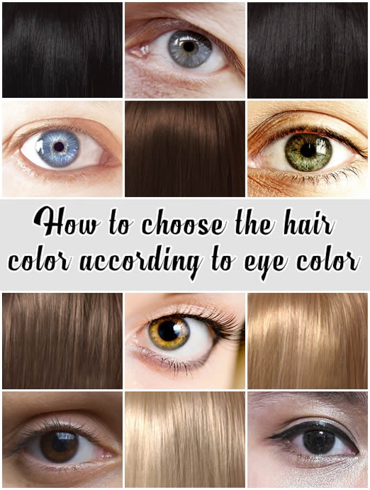 How to choose the hair color according to eye color