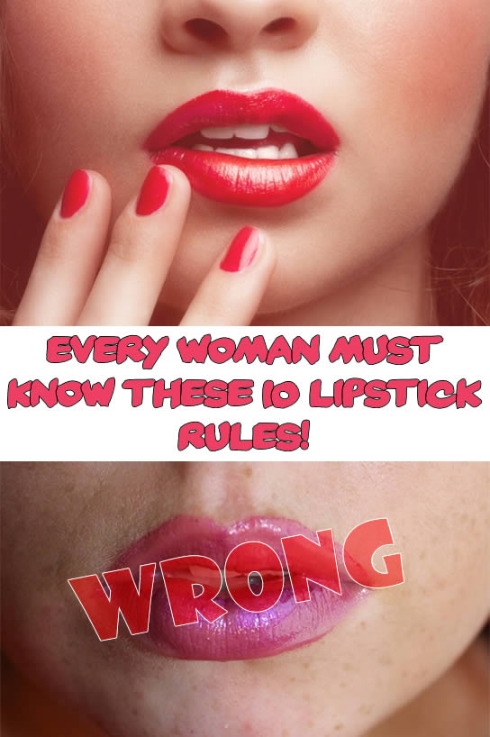 Every Woman must know these 10 Lipstick Rules!