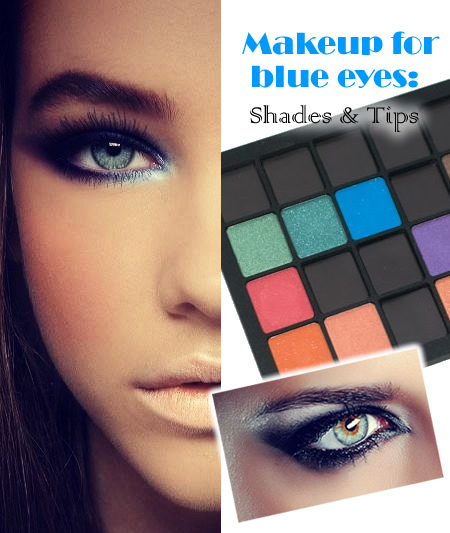 Makeup for blue eyes: Shades & Tips