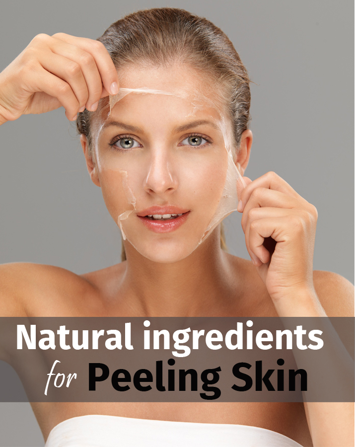 Natural ingredients for peeling skin