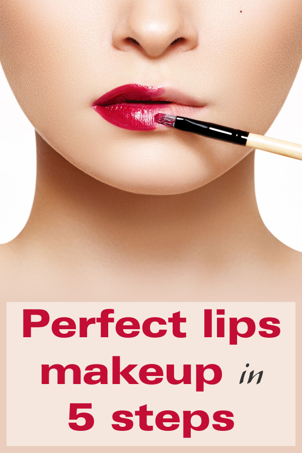 Perfect lips makeup in 5 steps
