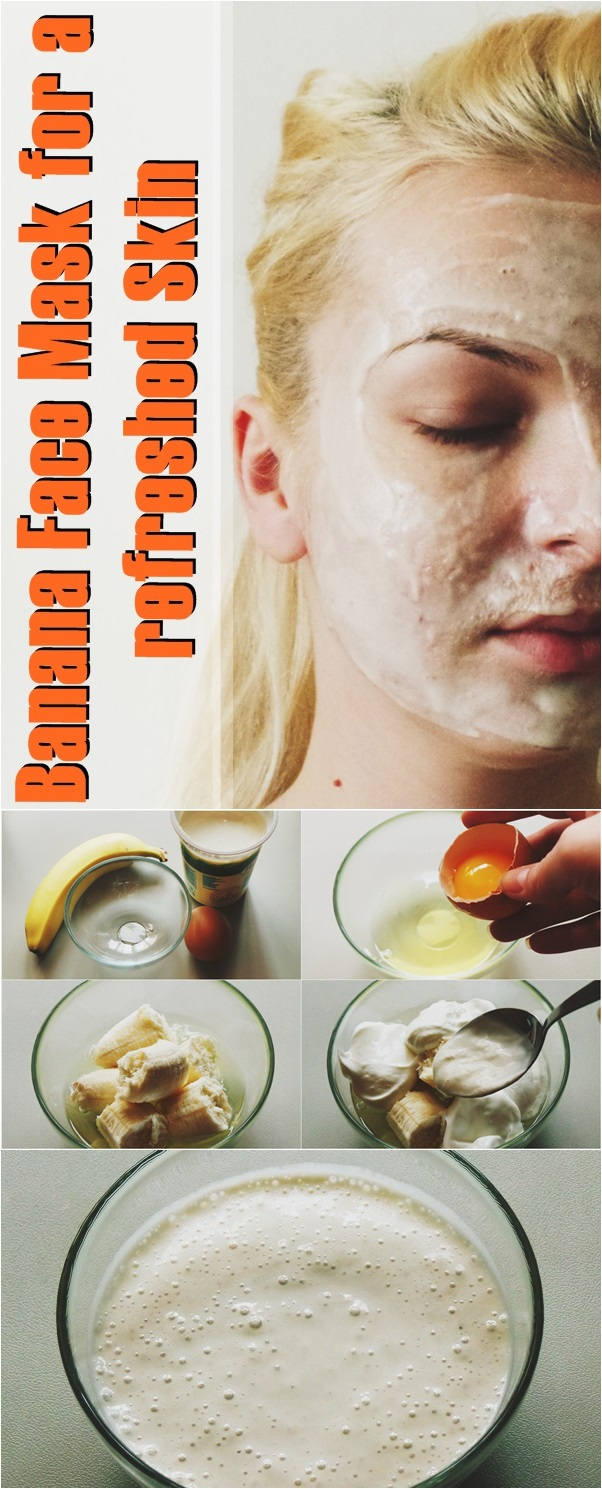 Banana Face Mask for a refreshed Skin
