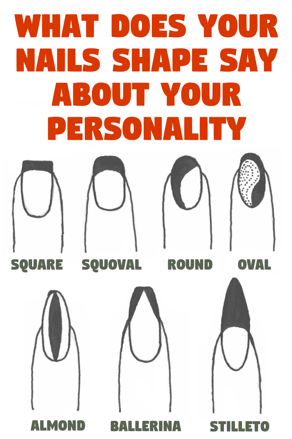 What does your Nails Shape say about your Personality