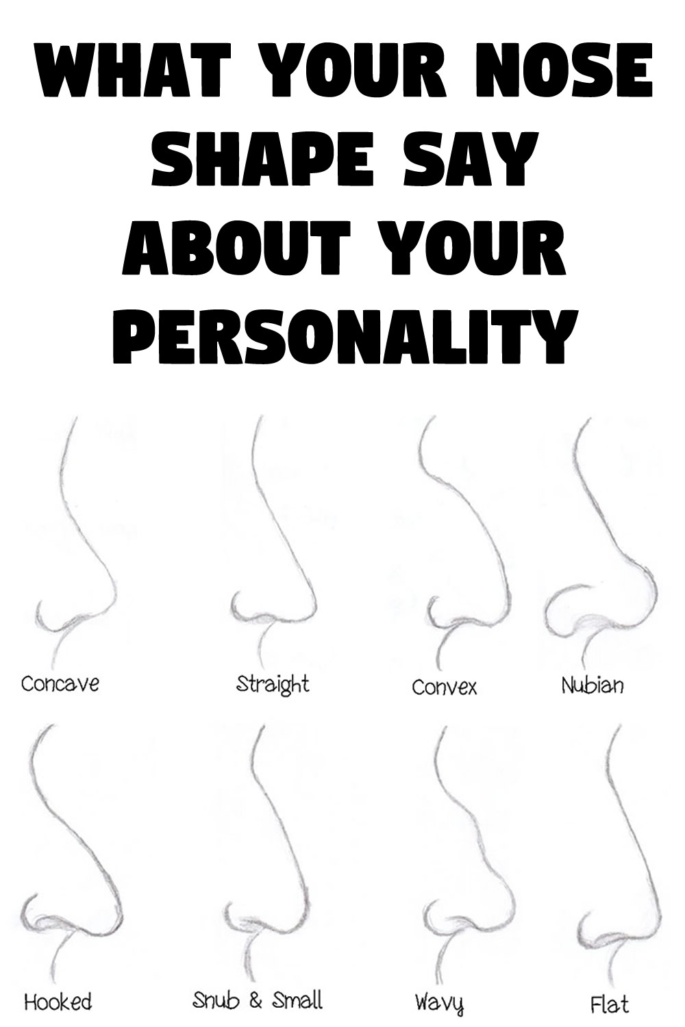 What your nose shape say about your personality